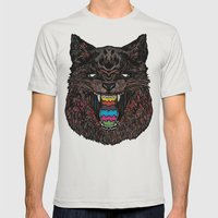 Bakeneko Mens Fitted Tee Silver SMALL