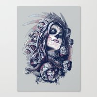 Coyolxauhqui Canvas Print