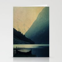mountains Stationery Cards featuring mountains by Ingrid Beddoes