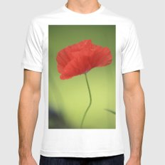 Poppy Love Mens Fitted Tee White SMALL