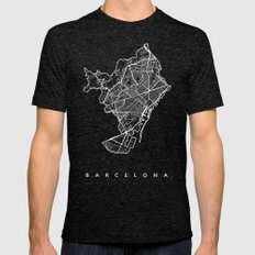 BARCELONA Mens Fitted Tee Tri-Black SMALL