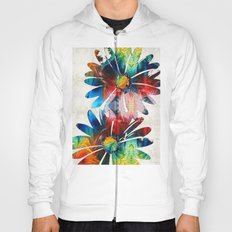 Colorful Daisy Art - Hip Daisies - By Sharon Cummings Hoody