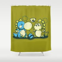 BUBBLE JOKE Shower Curtain