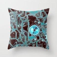 Steampunk,gears Throw Pillow