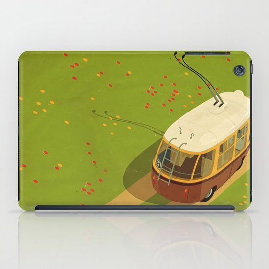 Trolley Rides The Field iPad Case