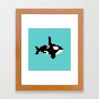 8-bit Orca Framed Art Print