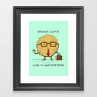 The Business Cookie Framed Art Print
