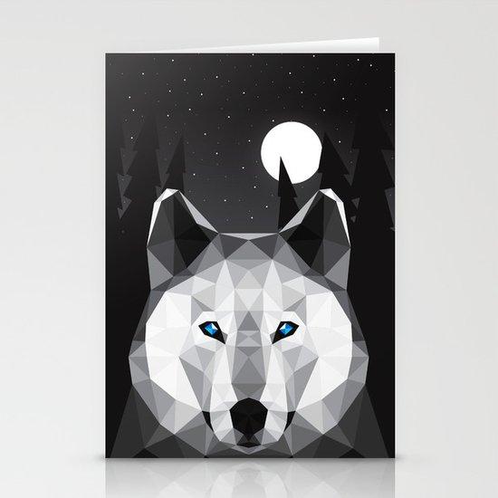The Tundra Wolf Stationery Card