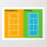 Le Tennis Art Print