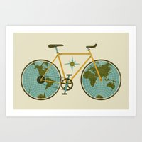 Ride For The World Art Print