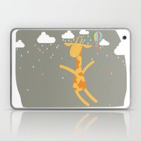 giraffe in the rain Laptop & iPad Skin