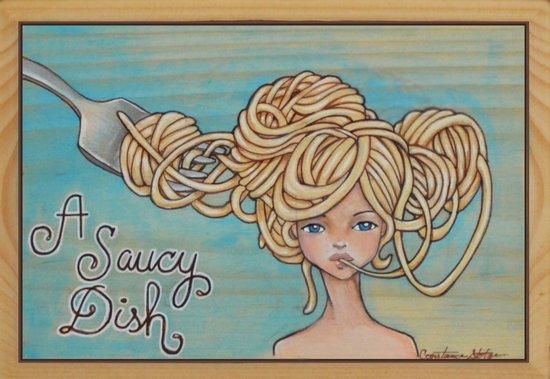 A Saucy Dish Canvas Print