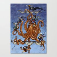 The Octo-Pirate! Canvas Print