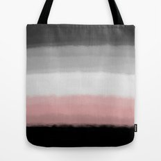 Black Pink and Gray Paint Strokes Tote Bag