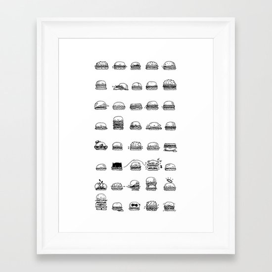 Burgerz Framed Art Print