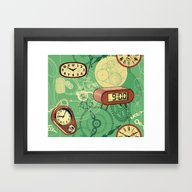 Framed Art Print featuring TIC TAC TIME by Chicca Besso