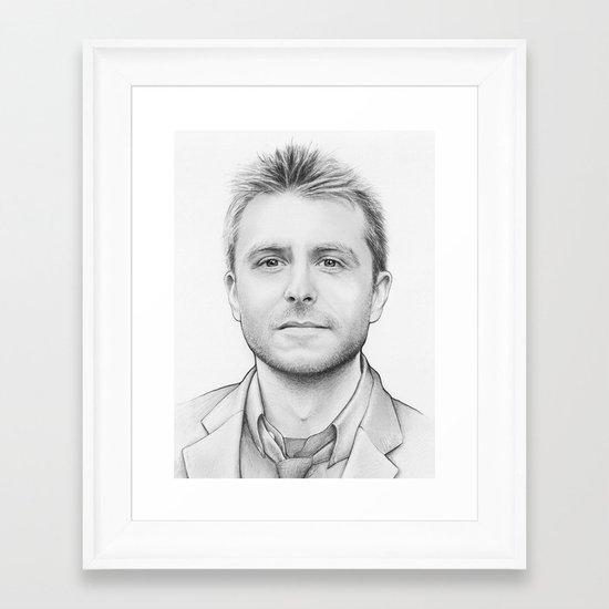 Chris Hardwick Framed Art Print