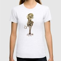 Hipster Monkey Womens Fitted Tee Ash Grey SMALL