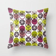 Black Border Abstract Circles Throw Pillow