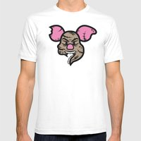 Zombie Piglet Mens Fitted Tee White SMALL