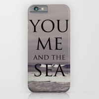 iPhone & iPod Case featuring You, Me, and the Sea by catdossett