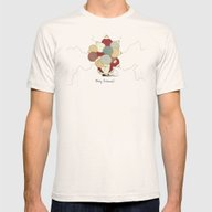 Christmess Mens Fitted Tee Natural SMALL