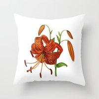 Lilium Tigrinum Throw Pillow