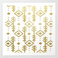 GOLD NORDIC Art Print
