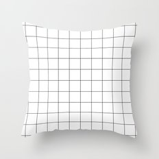 Black And White Grid Wat… Throw Pillow