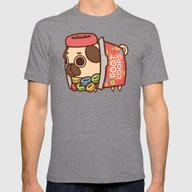 Puglie Poot Loops Mens Fitted Tee Tri-Grey SMALL