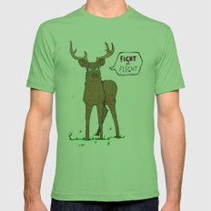 Fight or Flight Mens Fitted Tee Grass SMALL