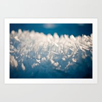 Mountain Snow Macro Art Print