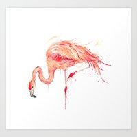 Flamingo Series - Poise  Art Print