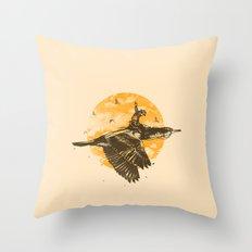 Ride The Sky Throw Pillow