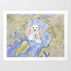 Polar Bear Portrait Art Print