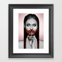 Man Eater Framed Art Print