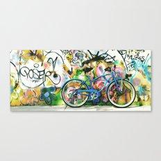 blue bike series 1.0 Canvas Print