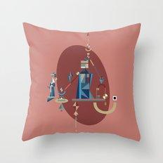 absinthe: blue Throw Pillow