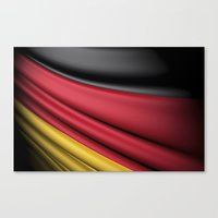 Flag Of Germany Canvas Print
