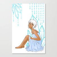 Isabelle and crystals Canvas Print