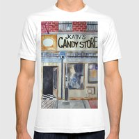 Candy Store Mens Fitted Tee White SMALL