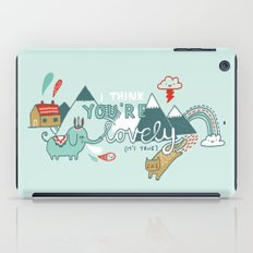 I Think You're Lovely iPad Case