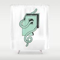 Baltimore Worm Shower Curtain