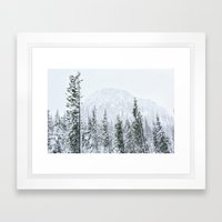 Snow Mountain Framed Art Print