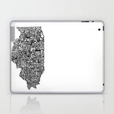 Typographic Illinois Laptop & iPad Skin
