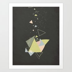 Exploding Triangles//Five Art Print