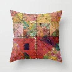Aztec Vintage Pattern 09 Throw Pillow