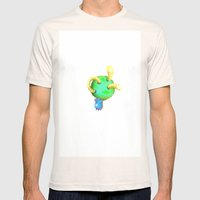Surprise! Mens Fitted Tee Natural SMALL