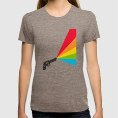 Colour Explosion Womens Fitted Tee Tri-Coffee SMALL
