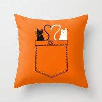 Po-Cats Love Throw Pillow